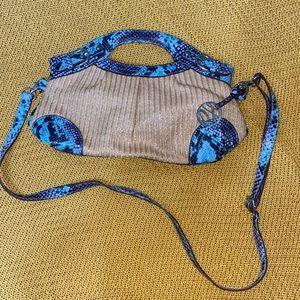Blue & Purple Style & Co. Snake Skin Purse